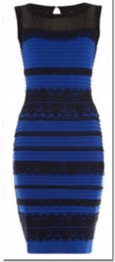 "The photo of ""The Dress"" showing how the dress looks in real life"