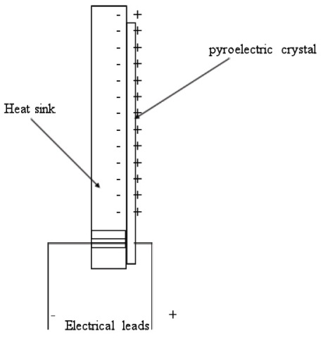 Schematic view of a pyroelectric sensor