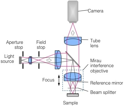 Schematic representation of Coherence Scanning Interferometry