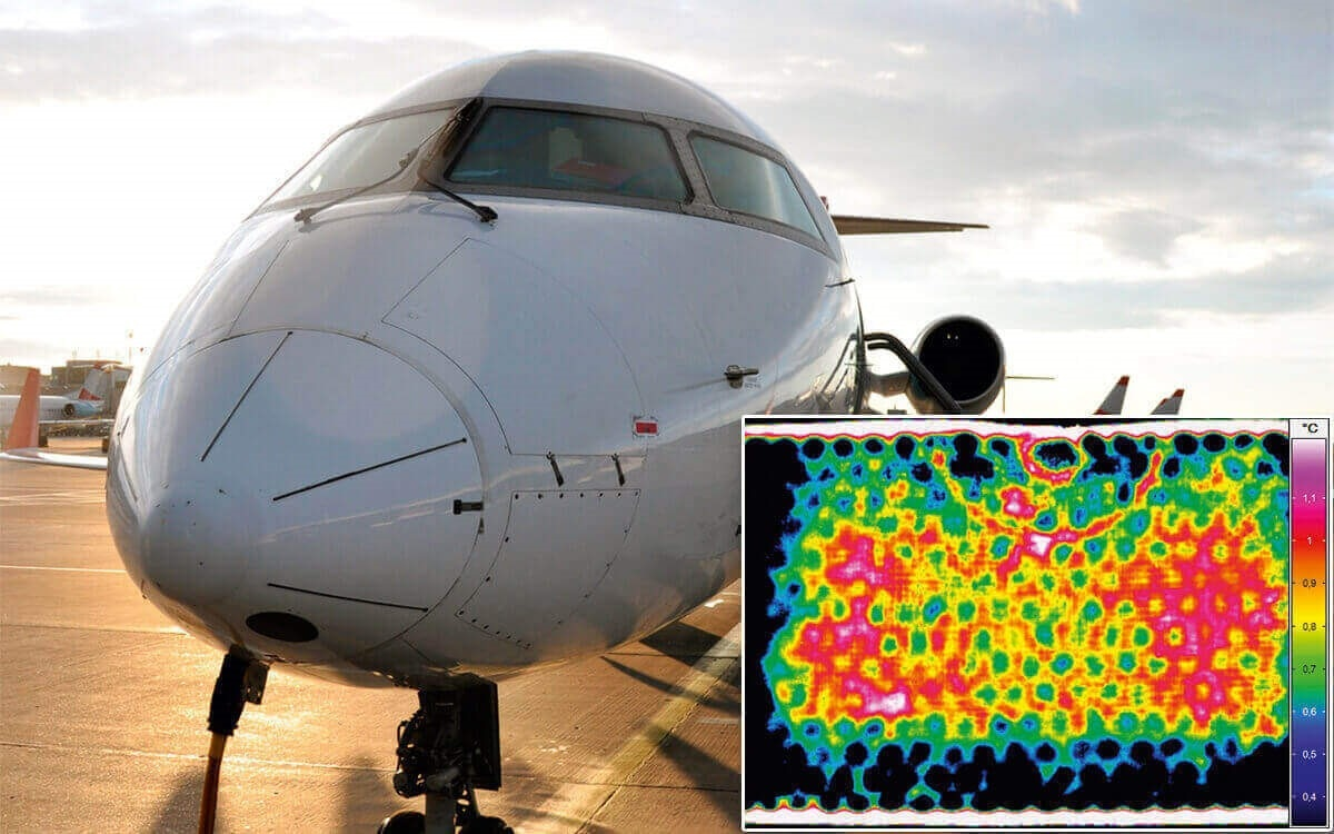 Active thermography for aircraft engineering