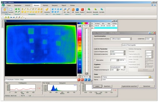 Active thermography software IRBIS 3
