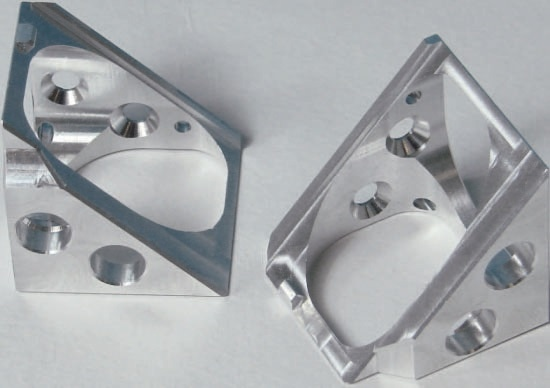 Mirror holder for the PSV geometry scan unit.