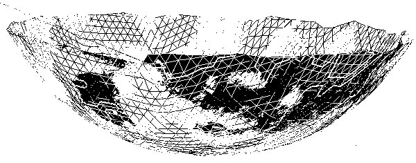 Scanned geometry of pan dish.