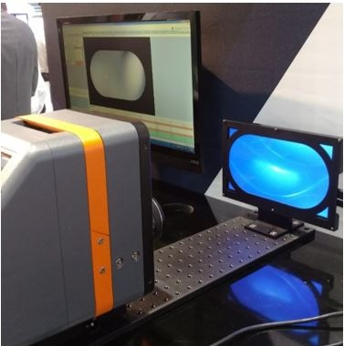 Radiant's freeform display measurement demo from Display Week 2019, featuring TrueTest Software, a ProMetric I16 (16 megapixel) Imaging Colorimeter, and a stadium-shape display.