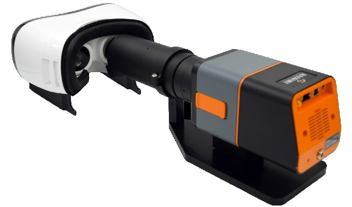 A NED measurement system positioned within the headset at the same location as the human eye can accurately capture the display FOV as it is meant to be seen by the device user.