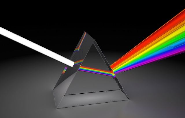 prism reflecting light Light reflecting off the object curves as it enters the periscope  when a beam of light shines on a glass prism, the light is refracted into its different.