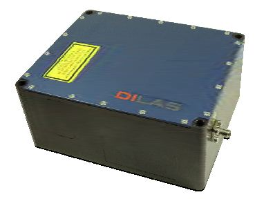 Single emitter module for up to 24 single emitters. The module has a size of 120x150x65mm3.