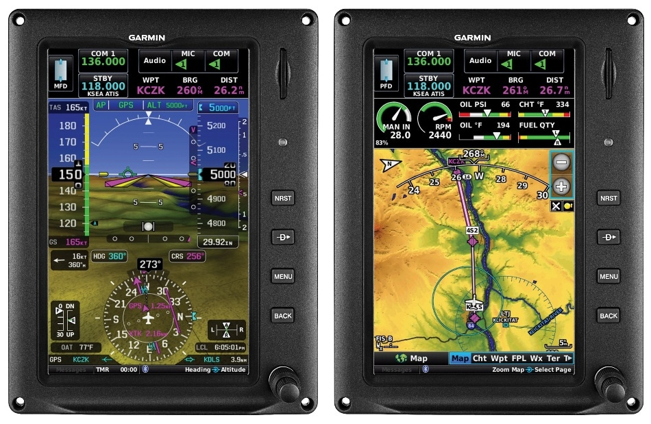 Garmin Launches New Scalable Flight Display System for Light Sport