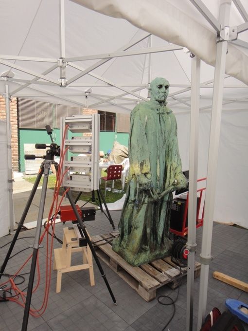Hyperspectral Imaging Helps Conservation of Outdoor Bronze Statue by Auguste Rodin