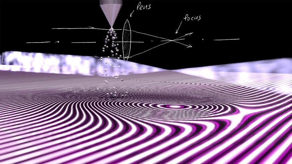 First-Ever Refractive Lens Formed by Jet of Atoms Focuses Extreme Ultraviolet Beams