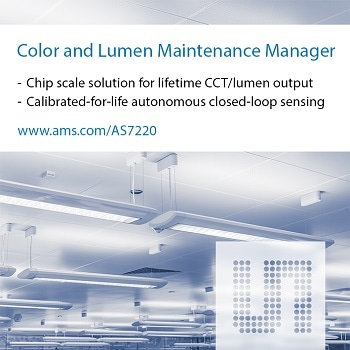 ams Broadens Smart Lighting Management Offerings with Standalone Solution for Color Stability and Lumen Maintenance