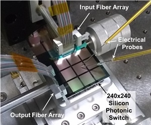 Researchers Report Successful Scale-Up of 240 x 240 Integrated Silicon Photonic Switch