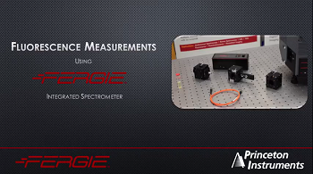 FERGIE - Fluorescence Measurement Set-Up from Princeton Instruments